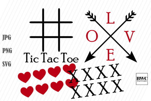Print on Demand: Valentine Tic Tac Toe Graphic Crafts By Becky W. Creations