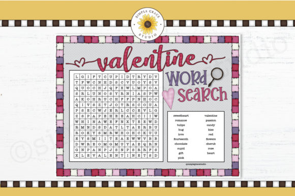 Valentine Word Search Graphic Teaching Materials By Simple Grace Studio