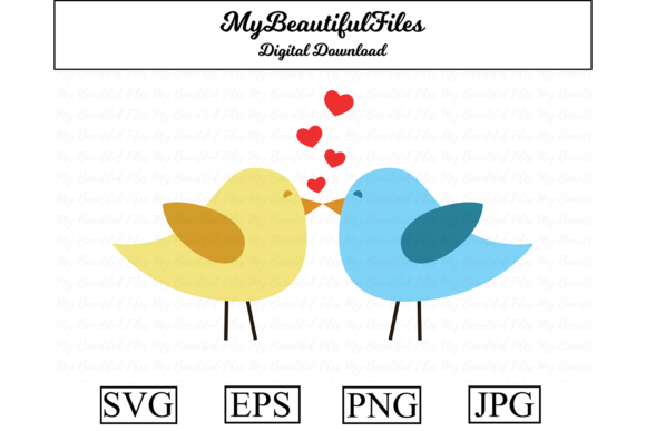 Print on Demand: Valentines Day - Birds in Love Graphic Illustrations By MyBeautifulFiles