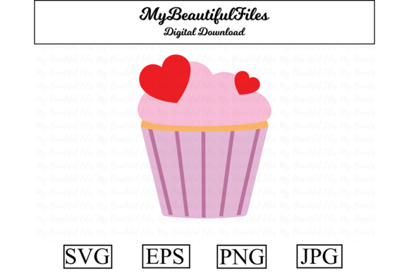 Print on Demand: Valentines Day - Love Muffin Graphic Illustrations By MyBeautifulFiles