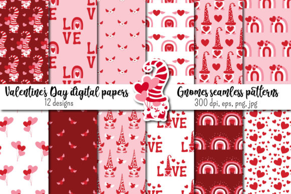 Valentine's Day Seamless Patterns Graphic Patterns By inkoly.art