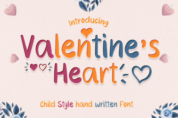 Print on Demand: Valentine's Heart Script & Handwritten Font By numnim