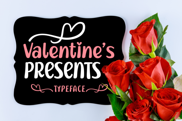 Print on Demand: Valentine's Presents Display Font By Lian-7NTypes