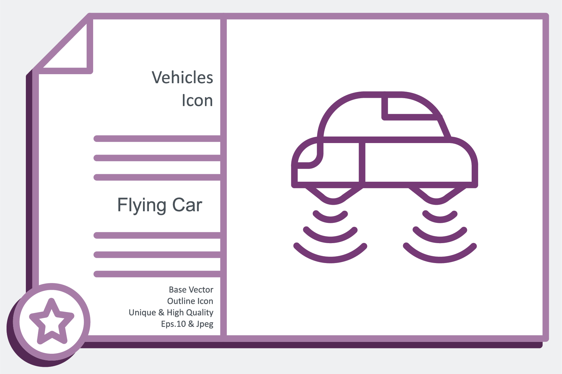 Vehicles Icon Flying Car Graphic By Noumineomi Creative Fabrica
