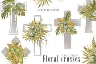 Print on Demand: Watercolor Jesus Cross Png Clipart Graphic Illustrations By Tiana Geo