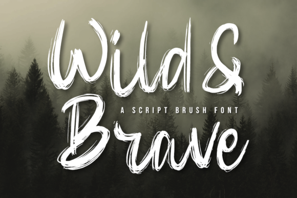 Print on Demand: Wild & Brave Script & Handwritten Font By Graphue