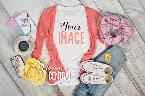 Woman's Spring T-Shirt Mockup Graphic Product Mockups By Mockup Central