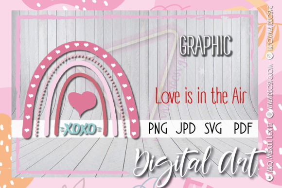 Print on Demand: XoXo Rainbow Love Graphic Graphic Templates By Marcel de Cisneros