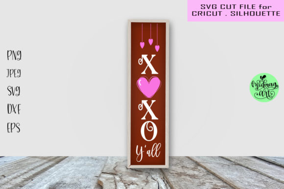 Xoxo Y'all Porch Sign Svg, Valentine Svg Graphic Objects By MidmagArt