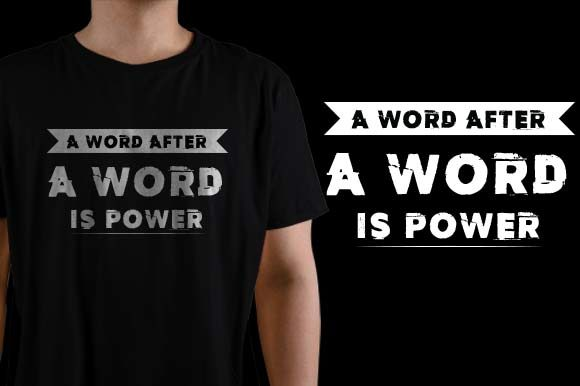 A Word After a Word is Power Graphic Crafts By HASSHOO