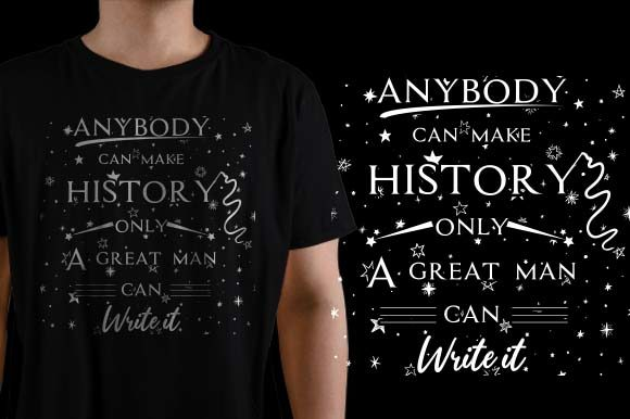 Anybody Can Make History Graphic