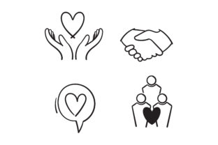 Print on Demand: Doodle Friendship Graphic Icons By GwensGraphicstudio