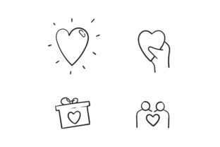 Print on Demand: Doodle  Friendship and Love Graphic Icons By GwensGraphicstudio