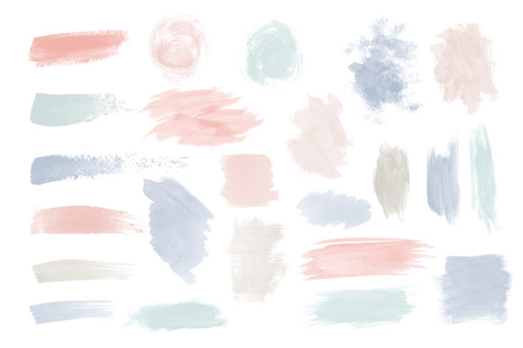Print on Demand: Watercolor Swatches Strokes Graphic Illustrations By Zweed n roll