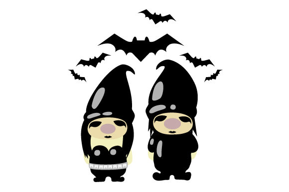 Gothic Gnomes Couple Designs & Drawings Craft Cut File By Creative Fabrica Crafts