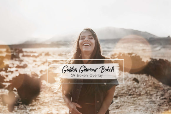 Print on Demand: 59 Golden Glamour Bokeh Lights Effect Graphic Textures By 3Motional