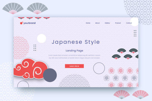 Print on Demand: Abstract Background Graphic Landing Page Templates By uicreativenet