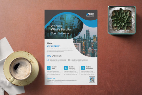 Abstract Corporate Flyer Template Graphic Print Templates By GraphicHut