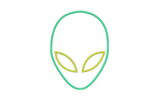 Alien Applique Robots & Space Embroidery Design By SweetDesign