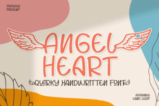 Print on Demand: Angel Heart Display Font By fontherapy