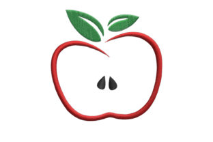 Apple Food & Dining Embroidery Design By SweetDesign