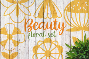Beauty Floral Set Graphic Illustrations By Firefly Designs
