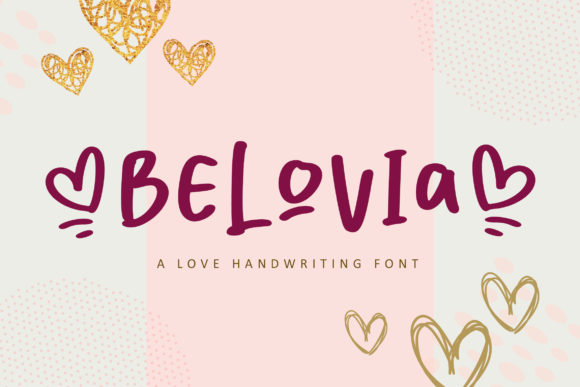 Print on Demand: Belovia Script & Handwritten Font By fontherapy
