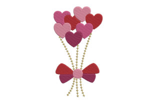 Print on Demand: Bouquet of Hearts Valentine's Day Embroidery Design By EmbArt 1