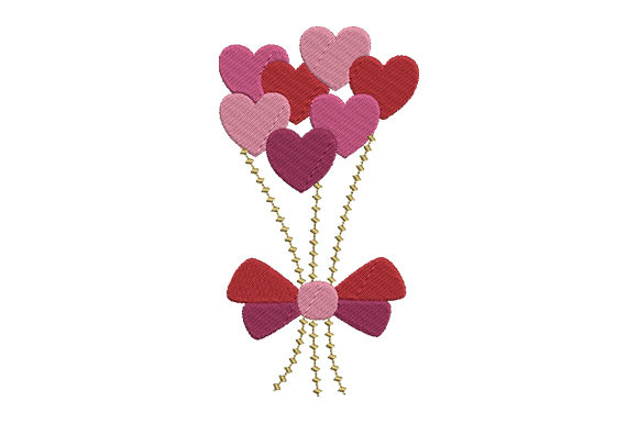 Bouquet of Hearts Embroidery