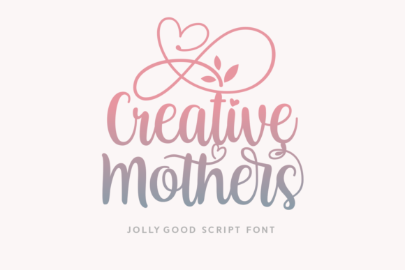 Print on Demand: Creative Mothers Manuscrita Fuente Por Lian-7NTypes
