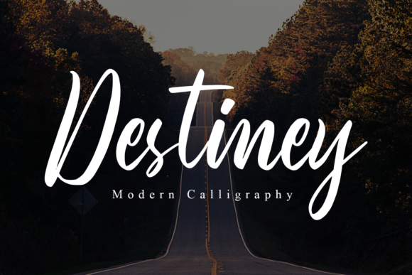Print on Demand: Destiney Script & Handwritten Font By FatmaStudio