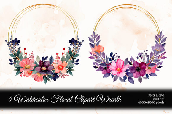 Print on Demand: Digital Clipart Floral Watercolor Part10 Graphic Illustrations By asrulaqroni