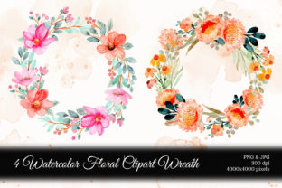 Print on Demand: Digital Clipart Floral Watercolor Part.9 Graphic Illustrations By asrulaqroni