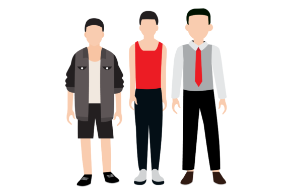 Family Illustration All Man & Boy Graphic Download