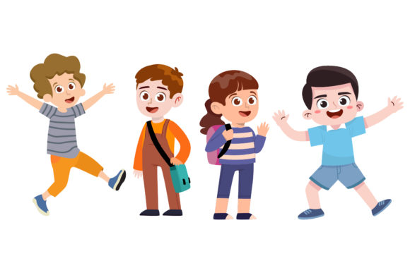 Family Illustration Cute 4 Kids Graphic Illustrations By PiGeometric