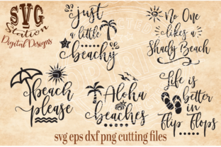 Five Summer Beach Quotes Graphic Crafts By SVG STATION