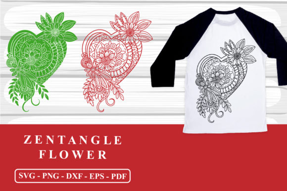 Florals Zentangle SVG Cutting Files Graphic Crafts By zhyecarther