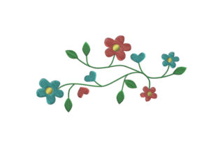 Flowers Floral & Garden Embroidery Design By SweetDesign