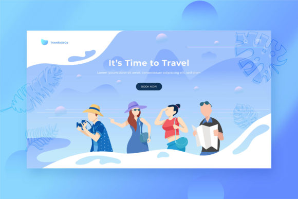 Print on Demand: Full Illustration Landing Pages Graphic Websites By uicreativenet