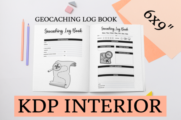 Print on Demand: Geocaching Log Book | KDP Interior Graphic KDP Interiors By KDP Mastermind