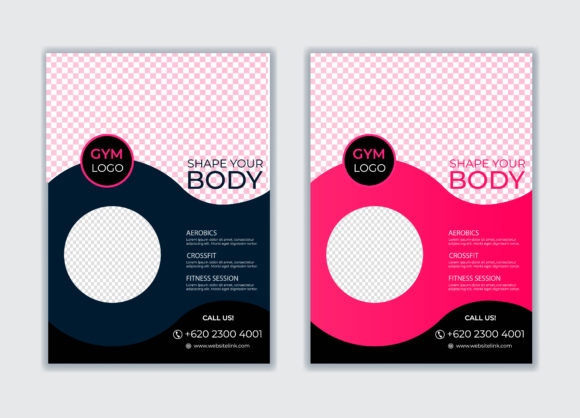 Gym & Body Building Flyer Template Graphic Print Templates By GraphicHut
