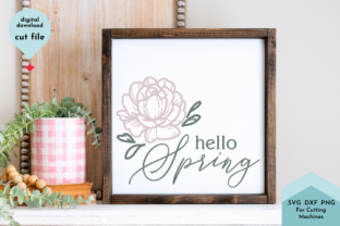 Print on Demand: Hello Spring - Flower Svg Gráfico Crafts Por Lettershapes