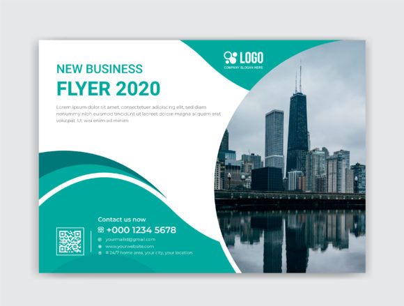 Horizontal Flyer Template Graphic