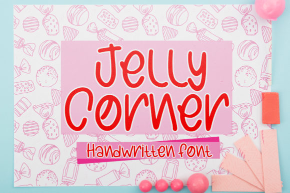 Print on Demand: Jelly Corner Script & Handwritten Font By boogaletter