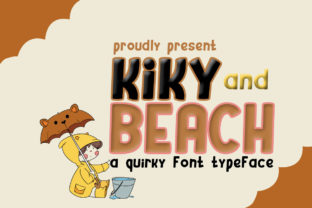 Print on Demand: Kiky and Beach Display Font By edwar.sp111