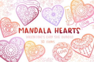 Print on Demand: Mandala Hearts Valentine's Day Bundle - Graphic Crafts By tatiana.cociorva