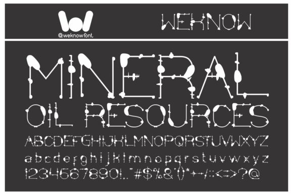 Print on Demand: Mineral Oil Resources Display Font By weknow