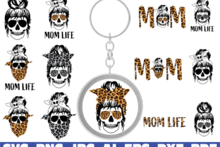 Print on Demand: Mom Life, Keychain Graphic Crafts By Sofiamastery