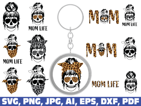 Mom Life, Keychain Graphic Crafts By dodo2000mn1993