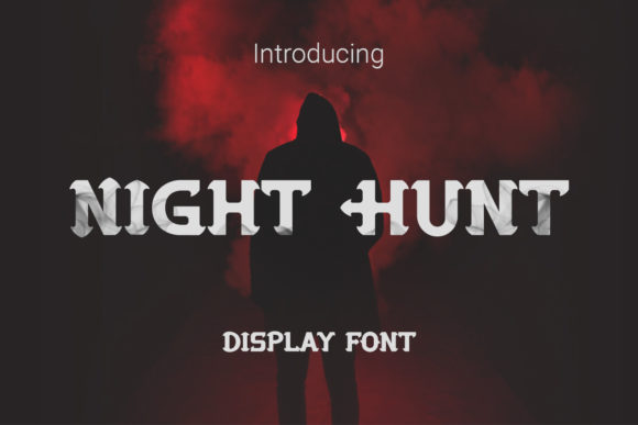 Print on Demand: Night Hunt Display Font By RoninDesign